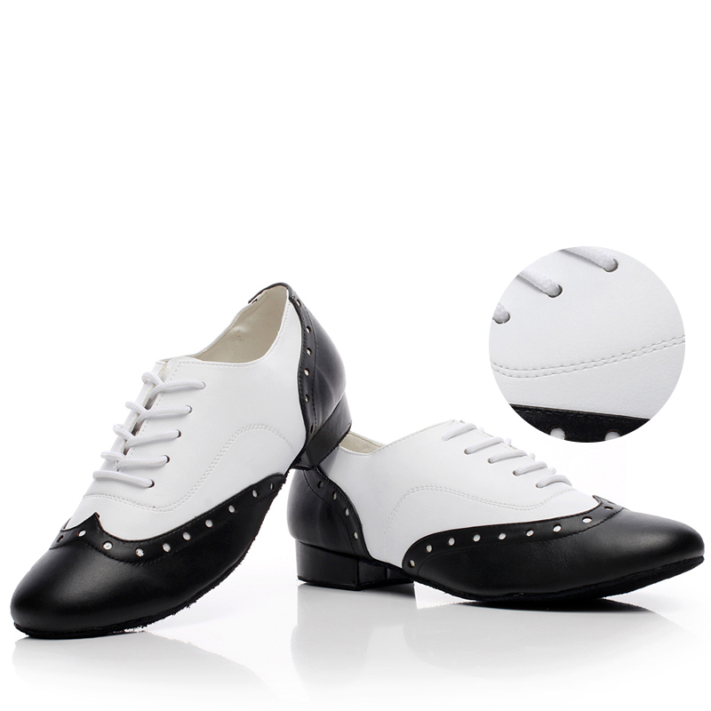 Sneakers Genuine leather Latin dance shoes For Men Boy Sports Shoes Heel 4cm Big Size Free