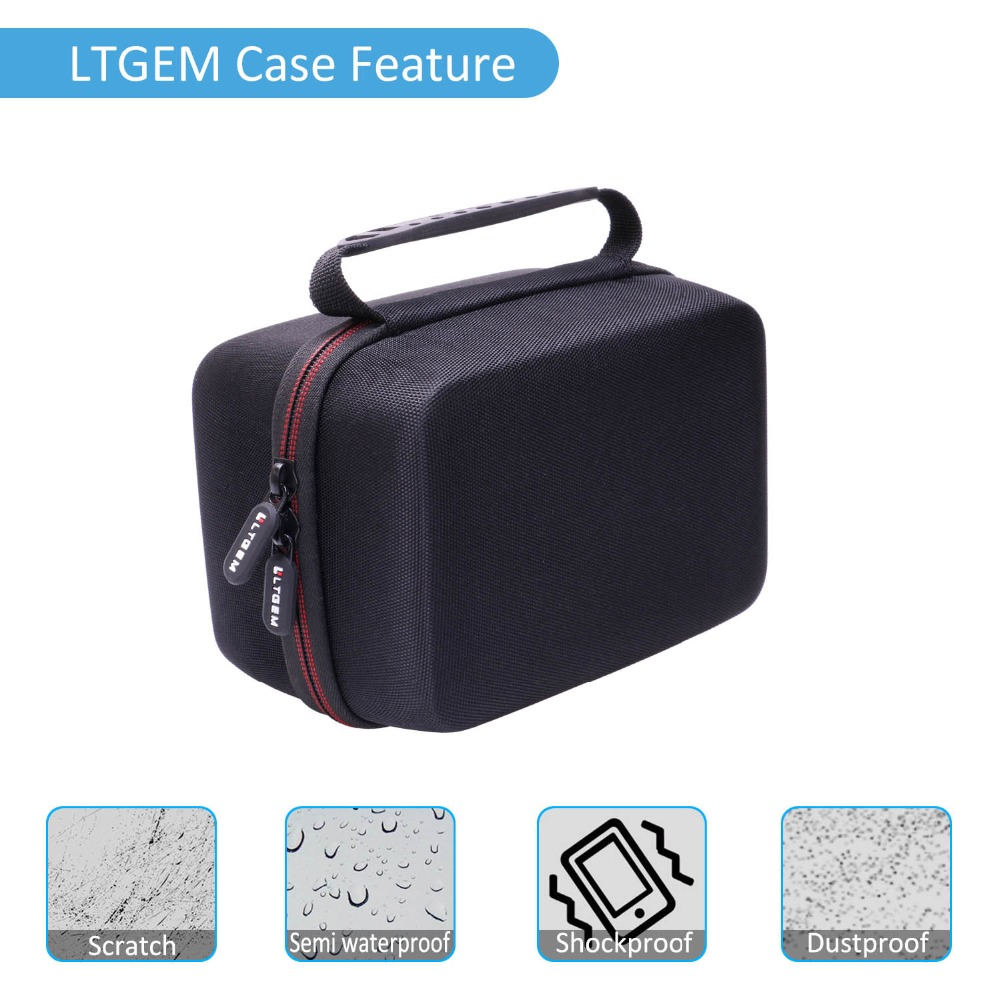 LTGEM EVA Hard Case for Omron Evolv Bluetooth Wireless Upper Arm Blood Pressure Monitor - Travel Protective Carrying Storage Bag