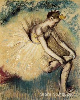 Dancer Putting on Her Slipper Edgar Degas painting Classical art Hand painted High quality