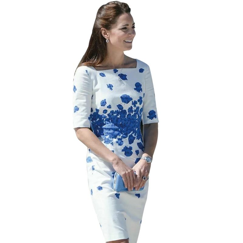2017 New Kate Middleton Dress Floral Print Party Dress ...
