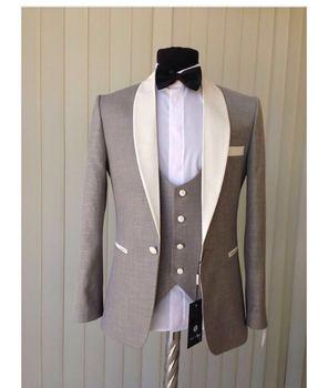 Nouveauté hommes dîner Party costumes de bal marié Tuxedos hommes de garde mariage Blazer costumes (veste + pantalon + gilet + cravate) K: 1646