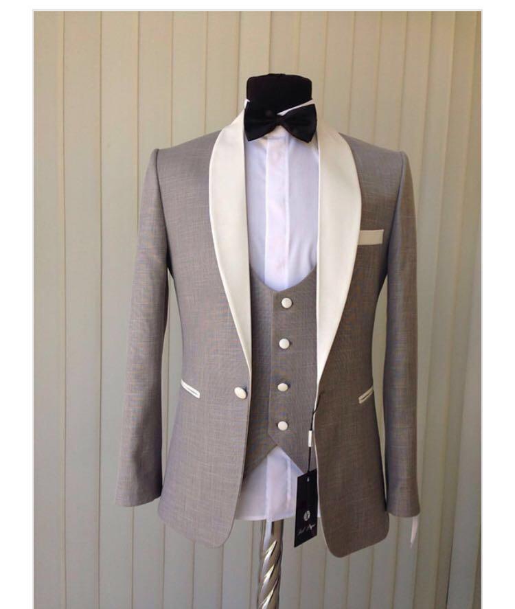 New Arrival Mens Dinner Party Prom Suits Groom Tuxedos Groomsmen Wedding Blazer Suits (Jacket+Pants+Vest+Tie) K:1646
