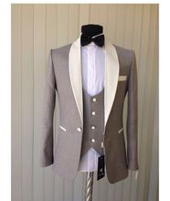 New Arrival Mens Dinner Party Prom Suits Groom Tuxedos Groomsmen Wedding Blazer Suits (Jacket+Pants+Vest+Tie) K:1646