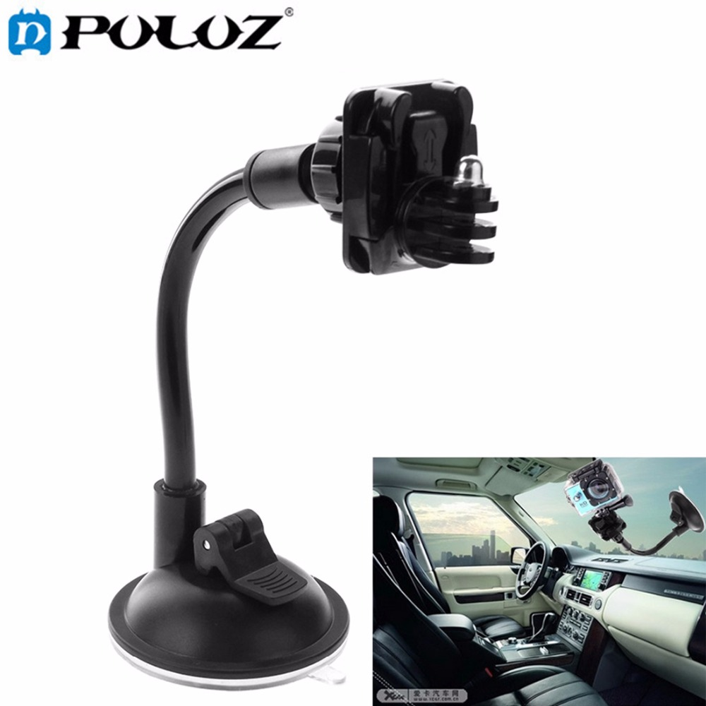Car Windshield Suction Cup Holder with 360 Degree Rotatable Adapter for GoPro Hero4 / 3+/ 3 / 2 / 1 / SJCAM SJ4000 / SJ5000 Лобовое стекло