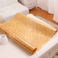 Bronzing table mat European gold luxury tablecloth PVC plastic waterproof wooden table mat party table decoration custom made