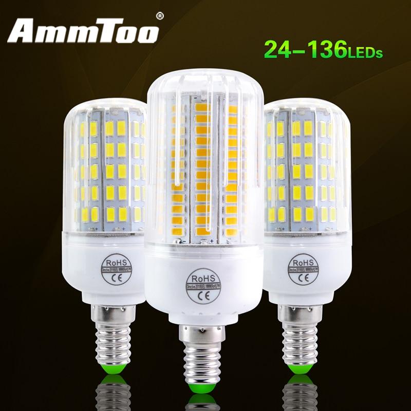 Led Bulbs & Tubes Lights & Lighting New Smd 5730 Fireproof Radiation Cover Led Lamp E14 220v Led Corn Bulb Light 24-108leds Lampada Led Replace 20-120w Incandescent Fine Quality