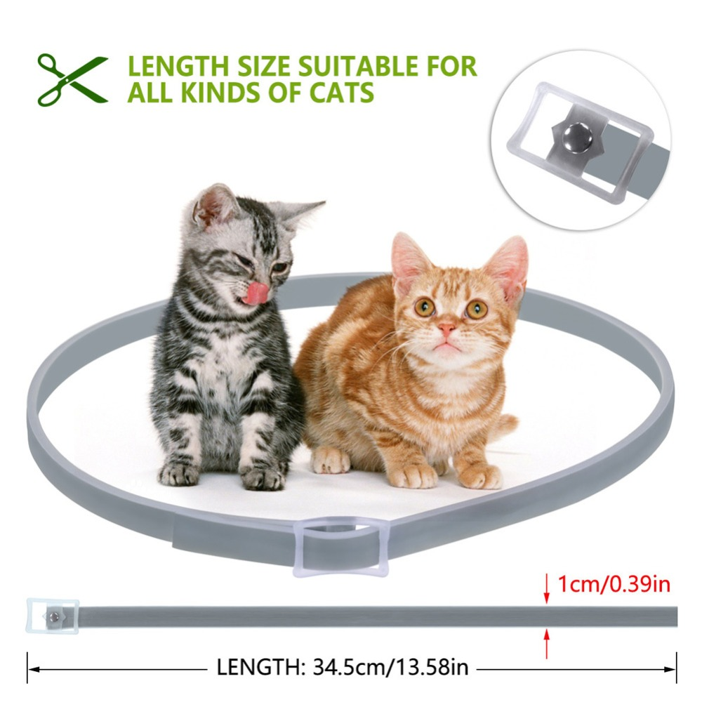 Cat-Collar-Tick-Flea-Anti-Insect-Mosquitoes-Waterproof-Adjustable-8-Months-Protection-E2S