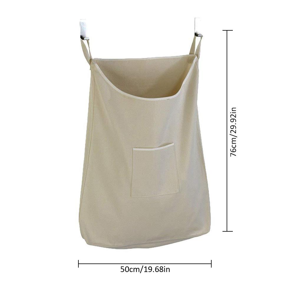 Us 7 58 36 Off Storage Bag Square Mouth Large Capacity Dirty Clothes Laundry Organizer Hanging Behind The Door 40 In Foldable