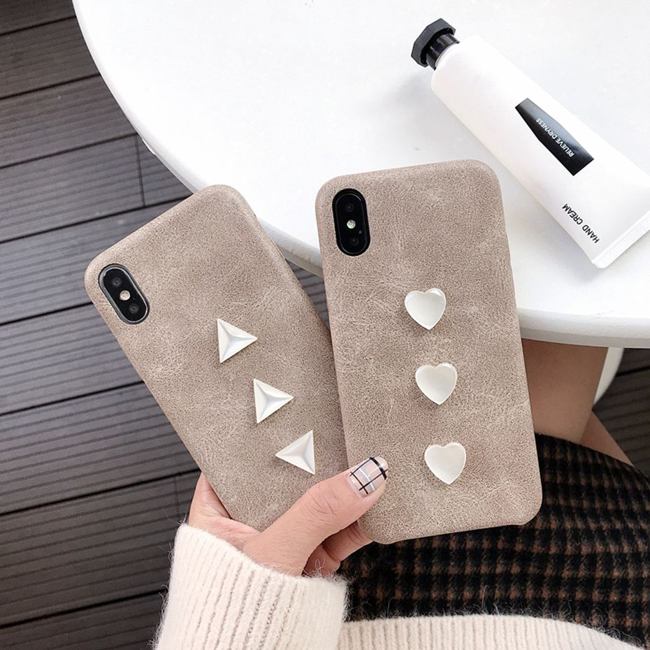 For iphone 7 case For iPhone X XS XR 7 8 6 6s plus Crystal PU leather Back Cover coque capa for iphone XS MAX case for iphone 8