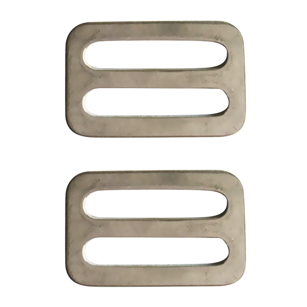 2Pcs 316 Stainless Steel 1 '' Scuba Weight Belt Stopper Adjustable Webbing Strap Slider Buckle Scuba Diving Accessories