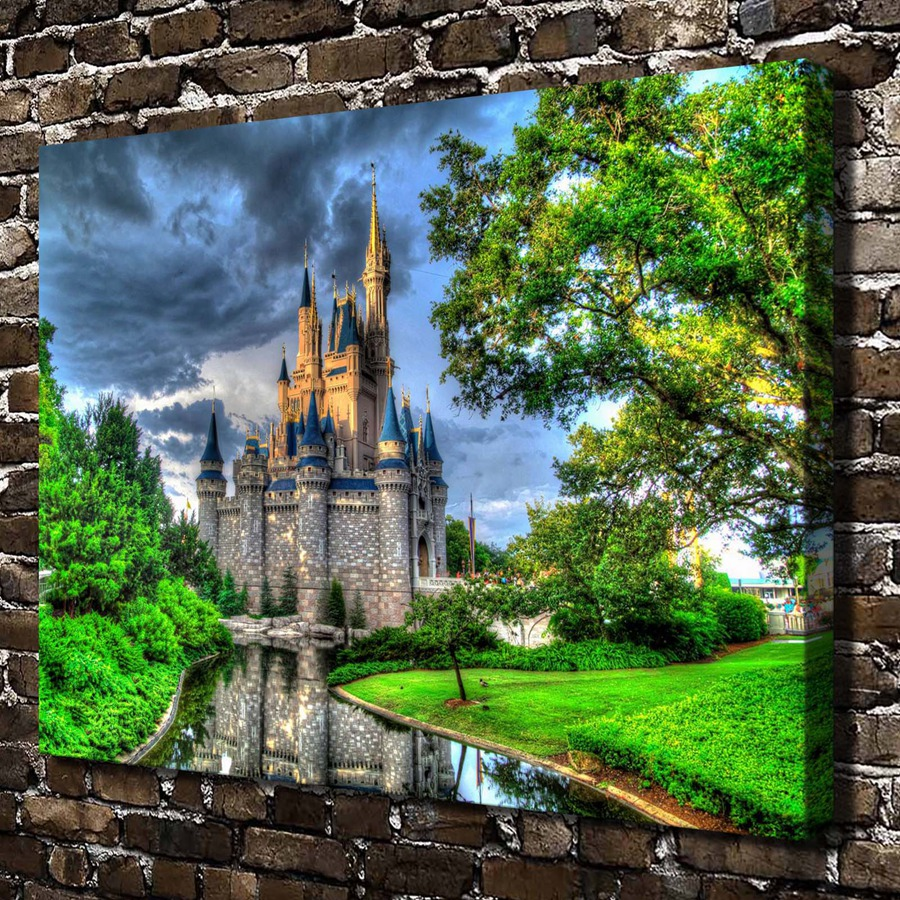 online get cheap cinderella castle painting -aliexpress