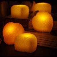 4 cái/lốc màu hồng hình trái tim led đèn nến rose tealight night lights mini điện tử nến cho ngày valentine trang trí