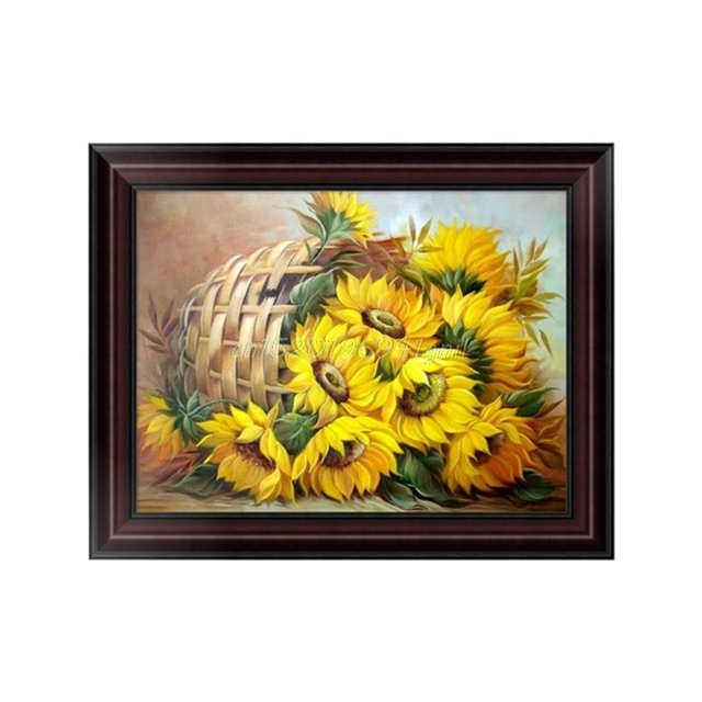 Aliexpress.com : Buy DIY Sunflower 5D Diamond Embroidery Painting ...