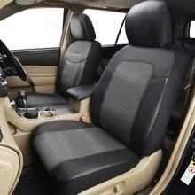 2018 ใหม่หรูหราหนัง PVC Auto Universal Car Seat ครอบคลุมรถยนต์ครอบคลุมที่นั่งสำหรับ Kia Rio 3 Toyota Lada Kalina ร้อน