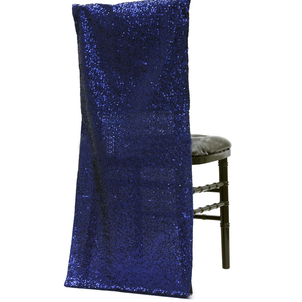 100pcs Sparkly Rose Gold Chair Covers Full Chair Back Blush Glitter Sparkle Sequin Sequined Fancy Wedding
