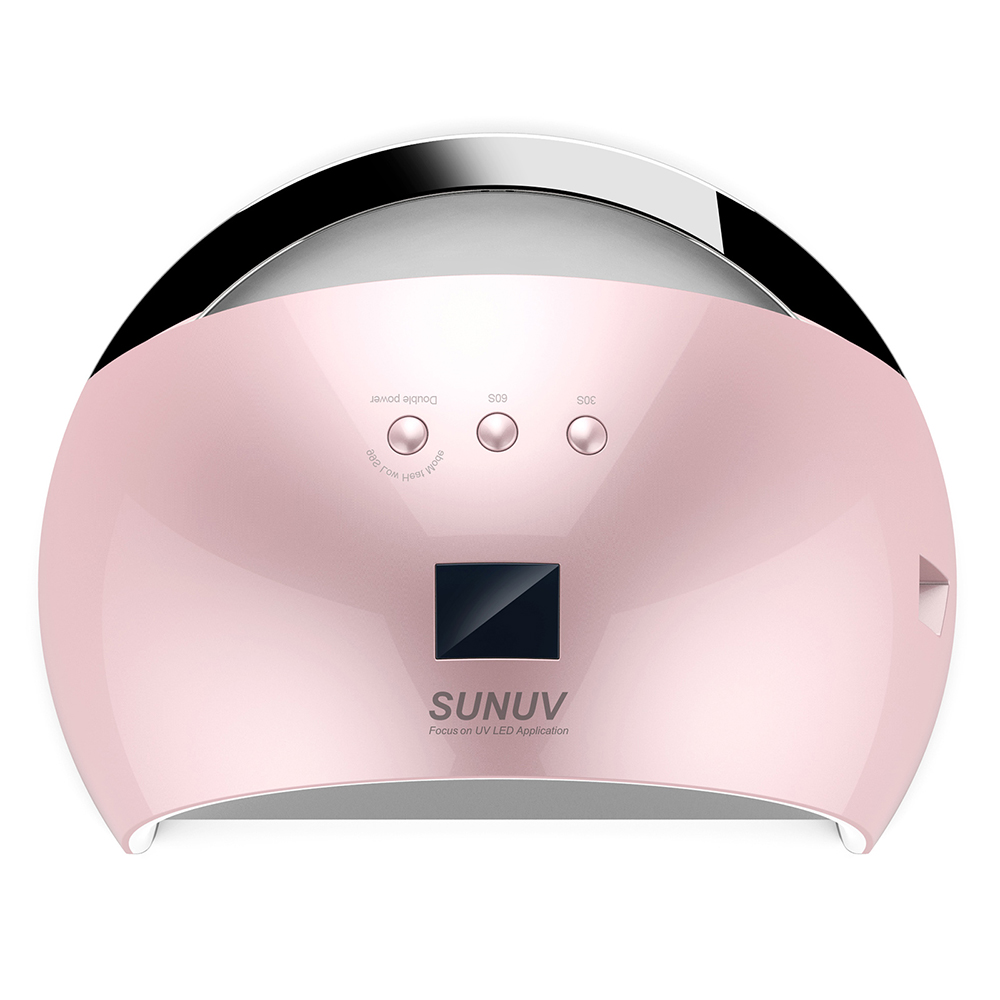 SUNUV Sun 6 48W Nail Dryer UV LED Nail Gels Upgrade White Light Nail Lamp Time Display Sensor Control UV Lamp Curing 30s/60s/99s sunuv 48w sun one nail dryer uv