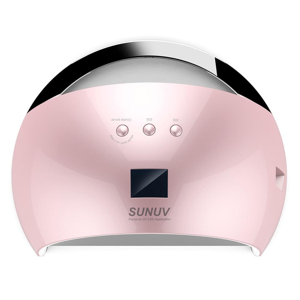 SUNUV Zon 6 48W Nagel Droger UV LED Nagel Gels Upgrade Wit Licht Nail Lamp Tijd Display Sensor Controle UV Lamp Curing 30 s/60 s/99 s-in Nagel Droger van Schoonheid op  Groep 1