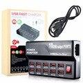 Práctico 10 Puertos USB Cargador de Viaje Cargador de Pared Adaptador Para Cámara Móvil Tablet Notebook Portátil EE. UU. Enchufe de LA UE