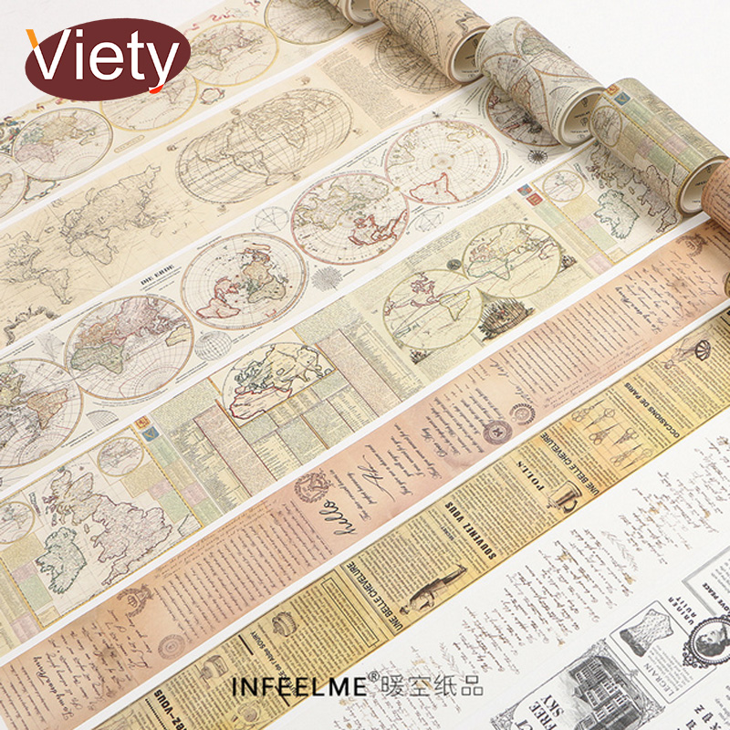 vintage song of traveller washi tape DIY decoration tape for scrapbooking planner adheisive masking tape adhesive label sticker shading color washi tape adhesive tape diy scrapbooking sticker label masking tape