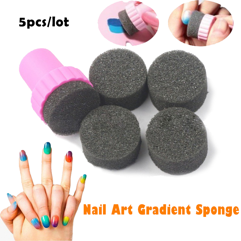 5pcsset Nail Art Sponge Diy Magic Stylish Design Nail Accessories