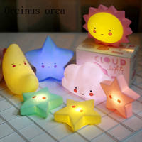 Creative cartoon Gift Girl Bedroom bedside lamp night light sun moon stars children room night light free shipping
