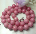 Pretty 12mm Pink Jasper Stone Round Necklace Hand Made Rope Chain Beads Jasper Jewelry Natural Stone Wholesale (Minimum Order1)