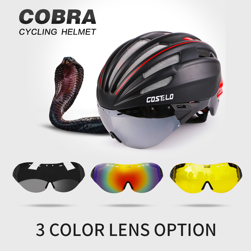 Costelo Ciclismo Casco 4 colores MTB Mountain Road Casco de bicicleta Casco de bicicleta Casco Speed ​​Airo RS Ciclismo Gafas Bicicleta