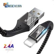 USB кабель TIEGEM для iPhone X XS MAX XR 8 7 6 5 S plus, кабель для быстрой зарядки, зарядный кабель для мобильного телефона, Usb кабель для передачи данных, 2 м, 3 м