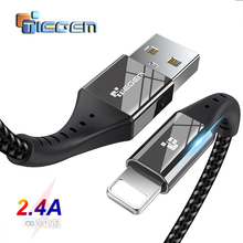 TIEGEM USB Cable For iPhone X XS MAX XR 8 7 6 5 S plus Cable Fast Charging Cable Mobile Phone Charger Cord Usb Data Cable 2M 3M