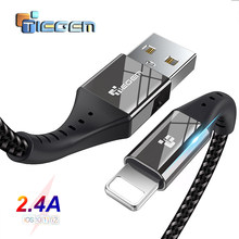 TIEGEM Cable USB para iPhone X XS X MAX XR 8 7 6 5 S plus Cable de carga rápida de móvil cable cargador de Teléfono Cable de datos Usb 2 M 3 M(China)