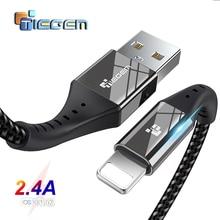TIEGEM USB ケーブル iphone X XS 最大 XR 8 7 6 5 S プラスケーブル高速充電ケーブル携帯電話充電器コードの Usb データケーブル 2 メートル 3 メートル