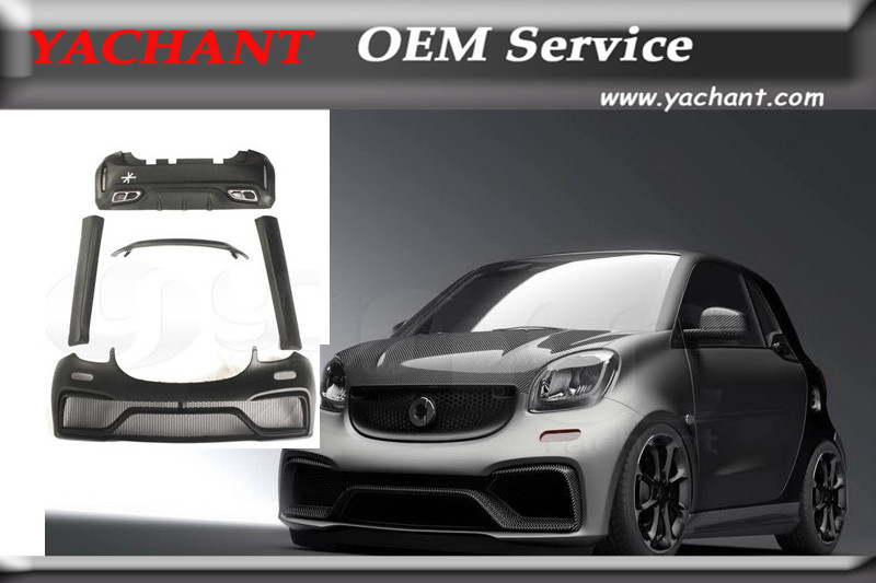 Rear Bumper Replacement >> FRP Fiber Glass Body Kit Fit For 15 17 Smart Fortwo C453 ...