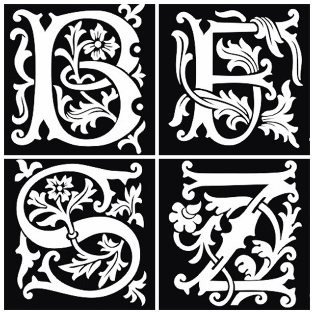 26Pcs Airbrush Tattoo Stencils Lettering For Body Painting Glitter Temporary Henna Tattoo Stencil Kit 26 Letters Mixed Design