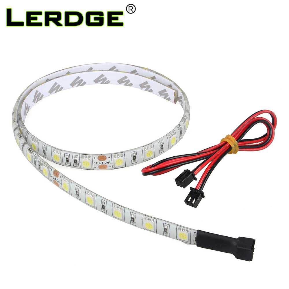 3D Printer Accessories White Light LED Strip For Lergde-S Motherboard And Lerdge-X Board 12V 24V Length 60cm With Cable Parts