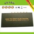 Full HD 1080 P HDMI к HDMI цифровой аудио в HDMI + Аудио декодер Аудио Edid Установка + + Spdif 5.1CH + HP Конвертер Поддержка 3D ЦИК HDCP