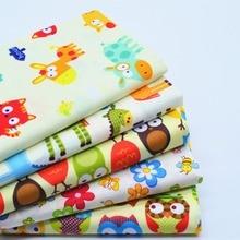 5Pcs 40*50cm Yellow Cartoon Printed Cotton Fabric Meter Diy Handmade Sewing Tissue Telas Para Patchwork Quilting Textiles