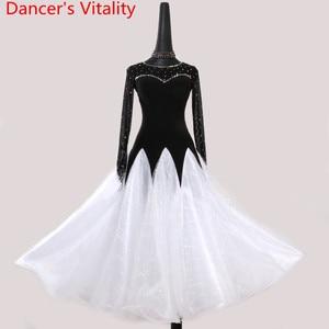 Image 5 - 2018新しい女性ダンスドレス女性社交パフォーマンスダンスドレス女性はドレスワルツ