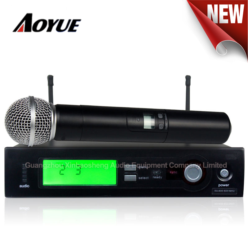 top quality l 24 b 58 wireless cordless handheld microphone slx4 for live vocals in amplifier. Black Bedroom Furniture Sets. Home Design Ideas