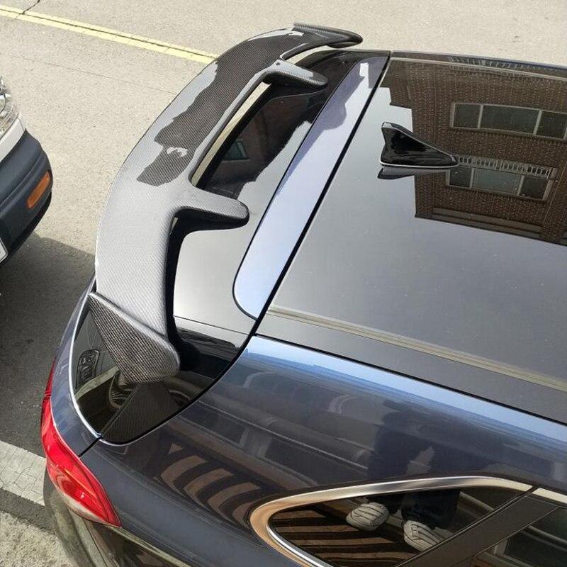 Akcesoria samochodowe z włókna węglowego tylny Trunk skrzydło spojler dachowy pasujące do Hyundai I30 2008-UP