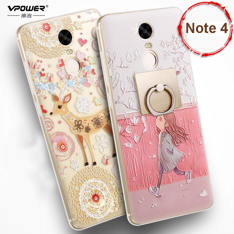 Xiaomi redmi note 4 case vpower luxury 3d relief print tpu soft silicone case for xiaomi redmi - Xiaomi redmi note 4 case ...