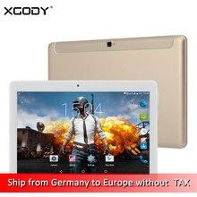 Envío Libre de DHL XGODY K109 4G LTE Desbloquear Teléfono Tableta de la Llamada 10.1 Pulgadas Android 6.0 MT6735 Octa Core 2G + 32G 1920*1080 Tablet PC
