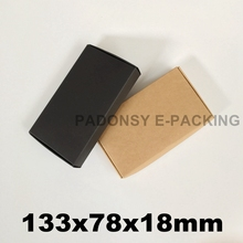 13.3*7.8*1.8cm Brown Kraft Paper Box Gift Box Packaging Soap Box Wedding Favors Candy Box Jewelry Cartons Emballage
