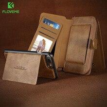 Floveme бумажник case для iphone 6 6s 7 6 6s плюс 7 плюс pu кожаный чехол слот для карты сумочка чехол для iphone 6 6s 7 телефон case bag