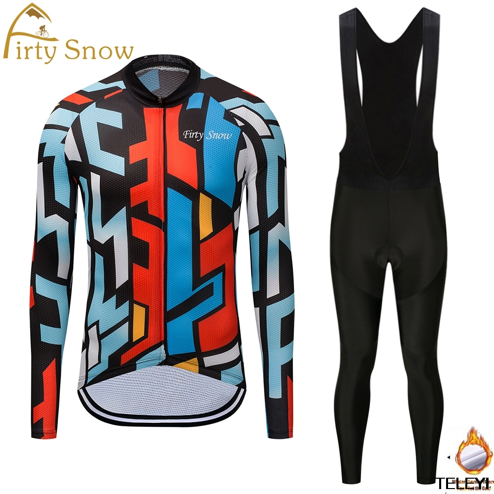Maillot Ciclismo 2017 Winter Thermal Fleece Ale Cycling Jersey Set Men Mtb Bike Clothes Long Sleeve