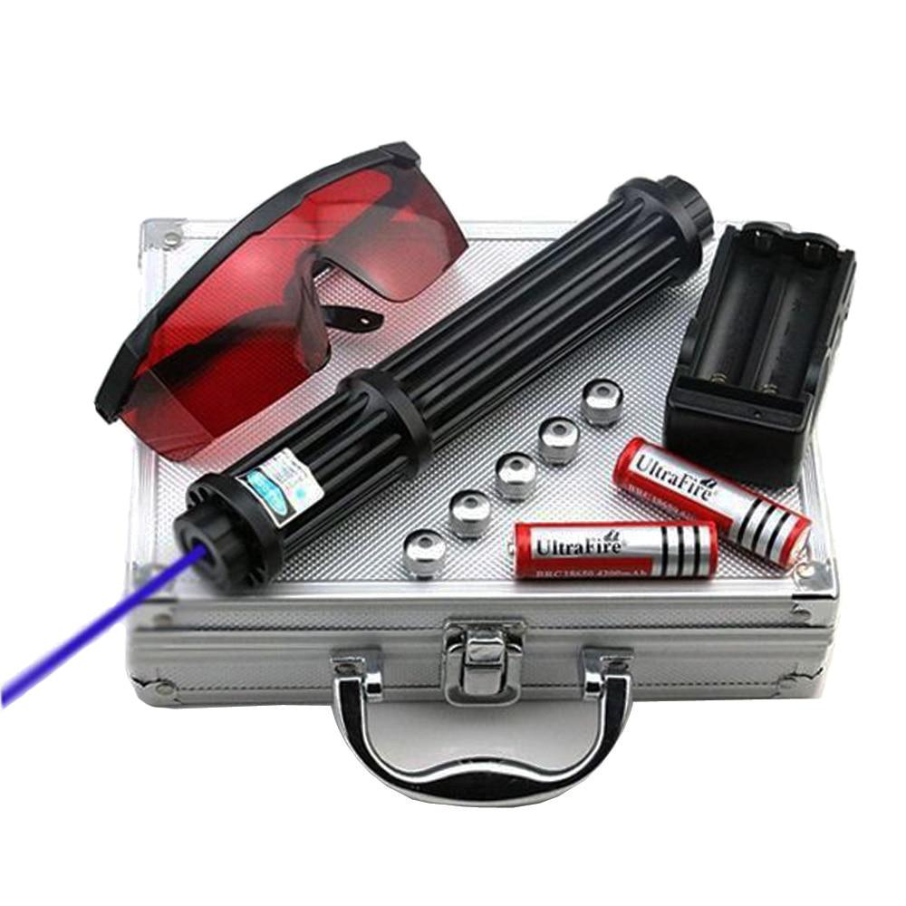 High Power 1 6 w Lengthen Blue Laser Pointers 450nm Lazer sight Flashlight Burning Match Burn