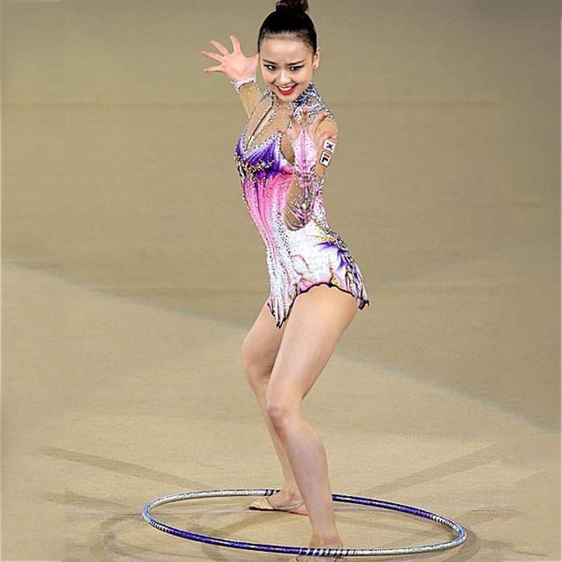 Sur mesure Vêtements Rythmique justaucorps de gymnastique À La Main De Danse de Patinage De Glace 7 Ans Belle Rythmique justaucorps de gymnastique s