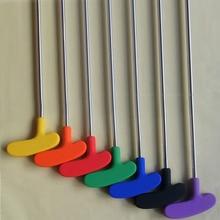 10pcs per lot high quality Steel shaft colorful grip rubber head Kids mini golf putter