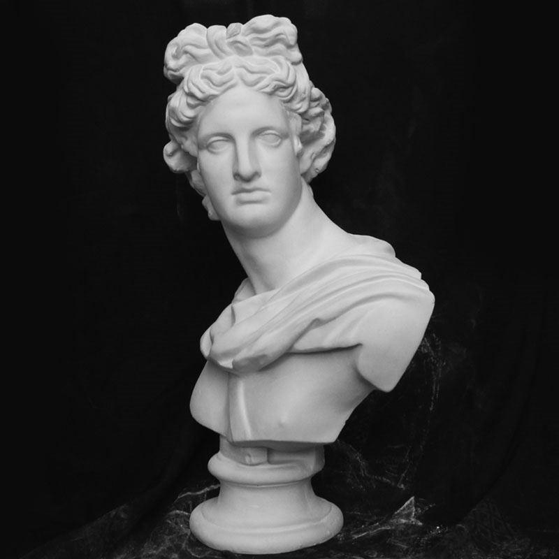 Apollo Bust Statue Adelos Greek Mythology Resin Craftwork Office Hotel Living Room Decoration Gift L1596