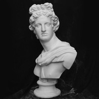 Apollo Bust Statue Adelos Greek Mythology Resin Craftwork Office Hotel Living Room Decoration Gift L1596
