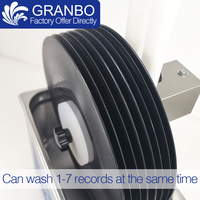 Lp vinil kayıtları yıkama braketi kaldırma su geçirmez alaşım dönen Motor kullanımı için ultrasonik temiz EP albümü disk|Ultrasonik Temizleyici Parçaları|Ev Aletleri -